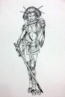 Geisha Warrior Girl By DW Miller by ConceptsByMiller