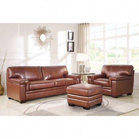 Evan Top Grain Leather Sofa Brown Abbyson Living Target Livingroombrownandbeige Leather Living Room Set Top Grain Leather Sofa Living Room Leather