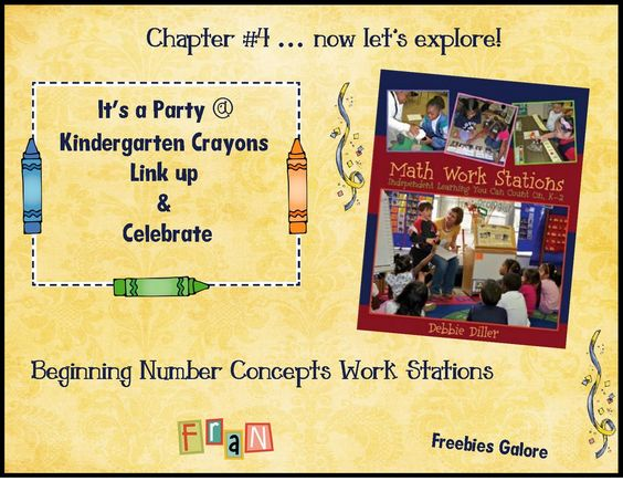 Kindergarten Crayons: Chapter #4... Now Let's Explore! FREEBIES Galore!  Great discussion of Debbie Diller's Math Stations book. I just read it and it's fantastic!!