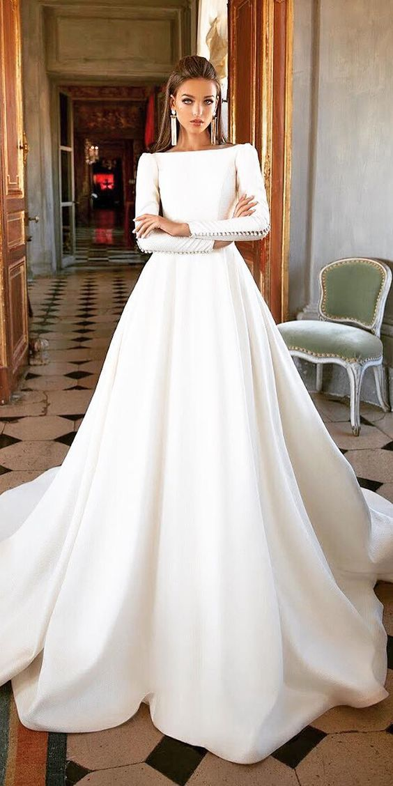 Pin By Dani Simone On Wedding Dresses With Sleeves Pinterest