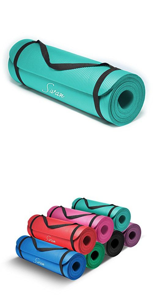 Sivan Health And Fitness 1 2 Inchextra Thick 71 Inch Long Nbr Comfort Foam Yoga Mat For Exercise Yoga And Pilates Teal Yoga Mat Bag Relaxing Yoga Yoga