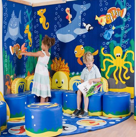 Under the sea classroom nursery interactive wall for Sea decorations for home