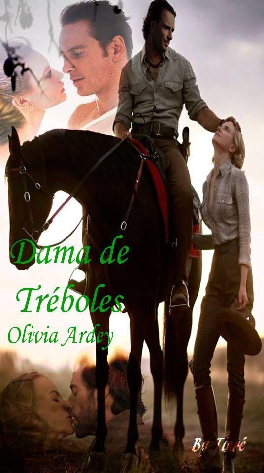 Marcapáginas DAMA DE TRÉBOLES, por Tiaré