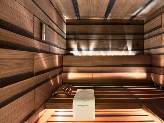 Textured sauna