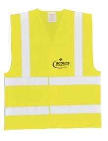 Hi-Vis Vest - Yellow with Scout Logo