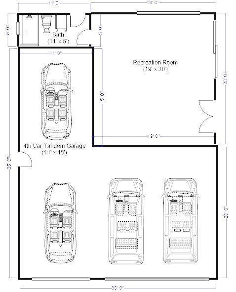 Need Remove Oversized 3 Auto Garage Abmessungen Ich Muss Meine 4 Braune Entfernen Abmes In 2020 Tandem Garage Garage Dimensions Garage Plans With Loft