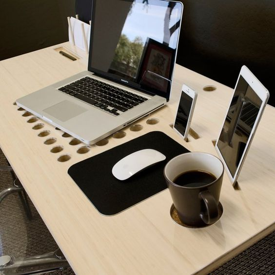 Would be relatively easy to recreate this and personalize it. DON:T PUT COFFEE BY MOUSE! SlatePro Personal TechDesk - $498: