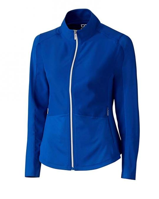 Blue Cutter & Buck Ladies WeatherTec™ Long Sleeve Avery Golf Jacket now at one of the top shops for ladies golf outerwear #lorisgolfshoppe