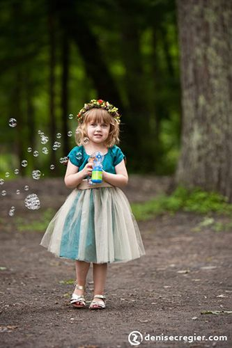Flower Girl with Bubbles