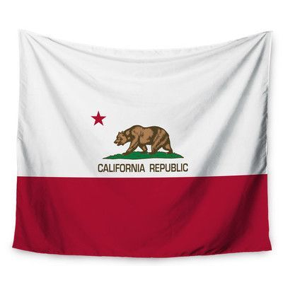 KESS InHouse California State Flag by Bruce Stanfield Wall Tapestry Size: