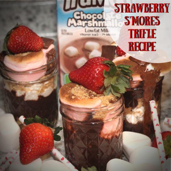 Strawberry S'mores Trifle Recipe strawberry s'mores trifle recipe #ad #jbbb