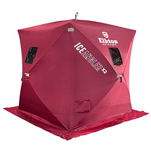 Special Offers - Elkton Portable Pop-up 3 Person Ice Shelter Fishing Tent / Shelter / Shanty / Hut / House - In stock & Free Shipping. You can save more money! Check It (June 07 2016 at 07:41PM) >> http://outdoorgrillusa.net/elkton-portable-pop-up-3-person-ice-shelter-fishing-tent-shelter-shanty-hut-house/