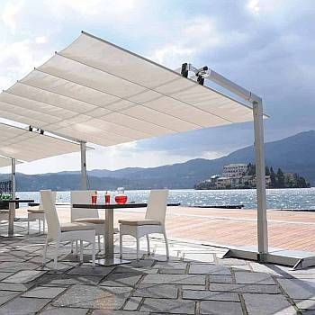 Flexy 8ft Deepseries Commercial Freestanding Retractable Awning Tilting Canopy Flexy8 Patio Pergola Patio Pergola Designs