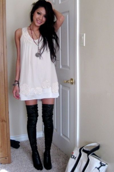 knee-high-leather-boots | Style | Pinterest | High boots, Knee ...