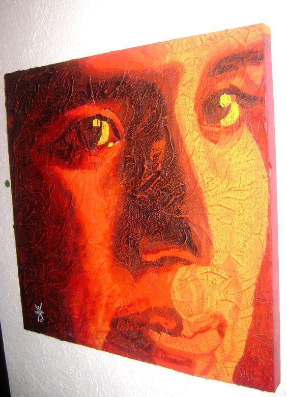 JC, Acrílico SOBRE TEXTURA EN TELA. Autor: José Luis Braojos.