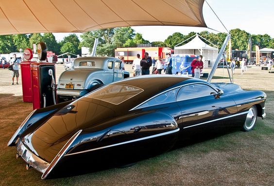 Billy Gibbons of ZZ Top had this custom car created, based on a 1948 Cadillac Series 62 Sedanette, and named it CadZZilla. Here it is at Goodwood.