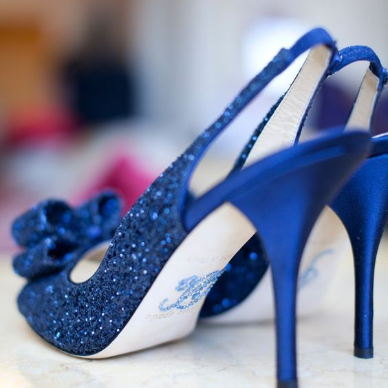 Blue Sequin, Kate Spade Shoes // Robin Nathan Photography // http://www.theknot.com/weddings/album/a-modern-elegance-wedding-in-atlanta-ga-133454