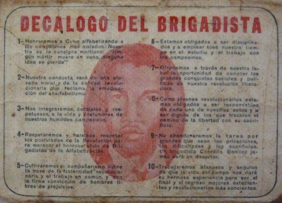 Decálogo del brigadista