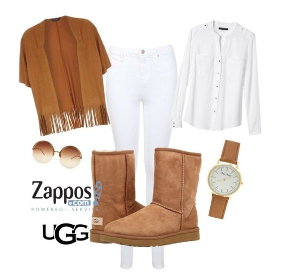 """The Icon Perfected: UGG Classic II Contest Entry"" by marty-trovato ❤ liked on Polyvore featuring Miss Selfridge, UGG Australia, Banana Republic, Dorothy Perkins, Linda Farrow, ugg and contestentry"