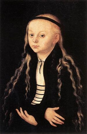 Magdalena Luther, ca. 1540 by Lucas Cranach the Elder, 1472-1553 Louvre, Paris R.F. 1767:
