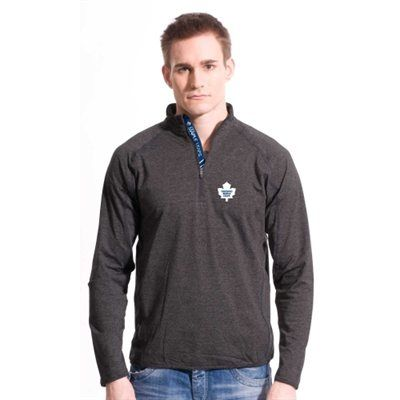 Levelwear Toronto Maple Leafs Metro Quarter Zip Pullover Jacket - Charcoal