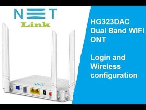 Login Netlink Hg323dac Dual Band Ont Wifi Configuration Dual Band Wifi Wifi Names