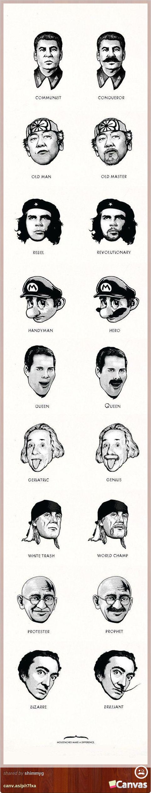 Nerd fashion: mustaches make a difference: Mustaches Change, Mustaches Rule, Difference Moustaches, Make A Difference, Epic Beards Mustaches, Mustache Power, Moustaches Change, Facial Hair, Moustaches Isn T