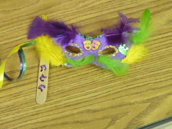 Mardi Gras masks for kids