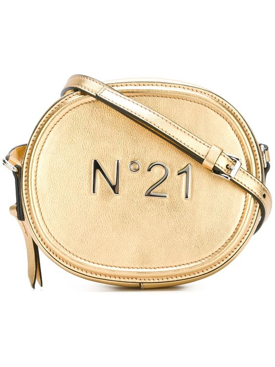 Nº21 small crossbody bag in Gold