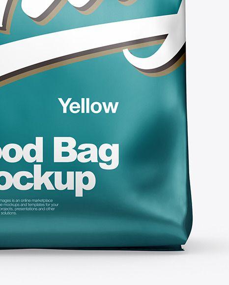 Download Metallic Food Bag Mockup In Bag Sack Mockups On Yellow Images Object Mockups In 2021