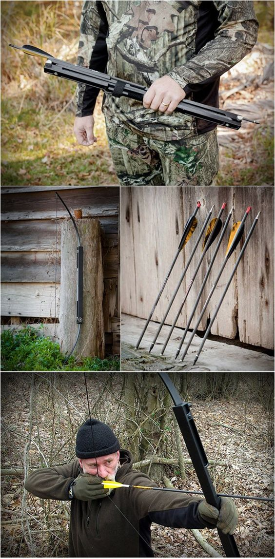 Compact Folding Survival Bow http://www.blessthisstuff.com/stuff/living/misc-living/compact-folding-survival-bow/