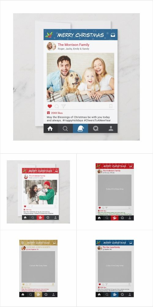 Instagram Frame Inspired Christmas Themed Photo Card And Photo Booth Templates They Are So Creative Christmas Photo Booth Instagram Christmas Christmas Themes