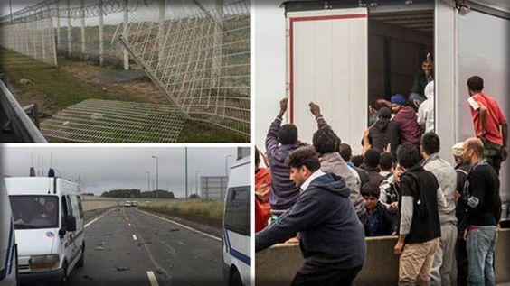 VIOLENT MIGRANTS SHUT DOWN PORT ROAD AND THROW ROCKS AT BRITISH CARS