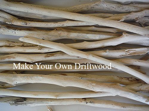 Make your own driftwood - step by step tutorial showing you how easy it is to create driftwood at home for all your driftwood projects.
