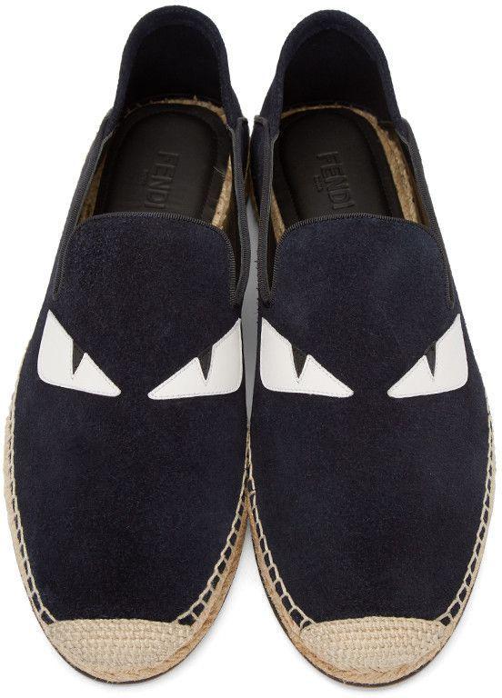 Navy Suede, Marino Fendi, Productos Para Hombre, Resbalón En, Sentido De La Moda, Sabor, Hombres, Zapatos, Products Espadrilles