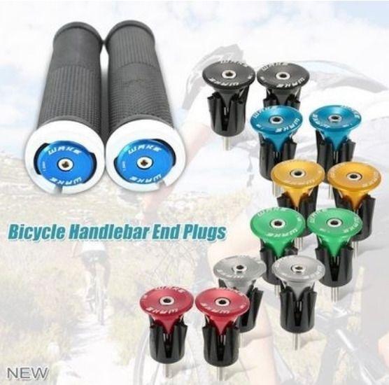 One Pair Bike Bicycle Aluminum Handlebar Grips Handle Bar Cap End Plugs