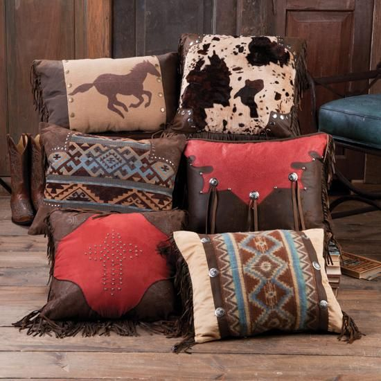Western Throw Pillow Collection ...  http://www.rods.com/western-home-decor/home-decor/pillows.html?p=2  http://www.drysdales.com/housewares/western-bedding/throw-pillows.html?p=1  http://retrocowboy.com/western-decor-pillows.aspx