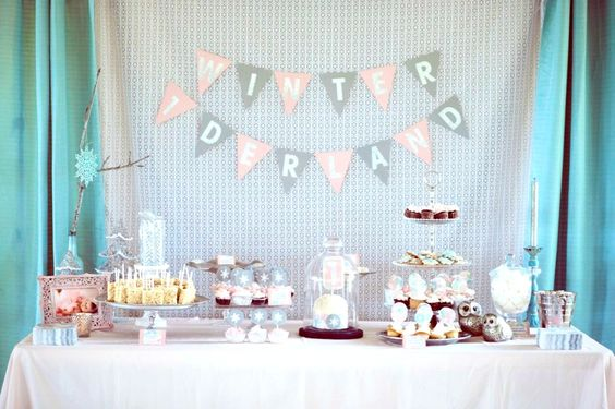 Winter One-Derland Birthday Party Dessert Table