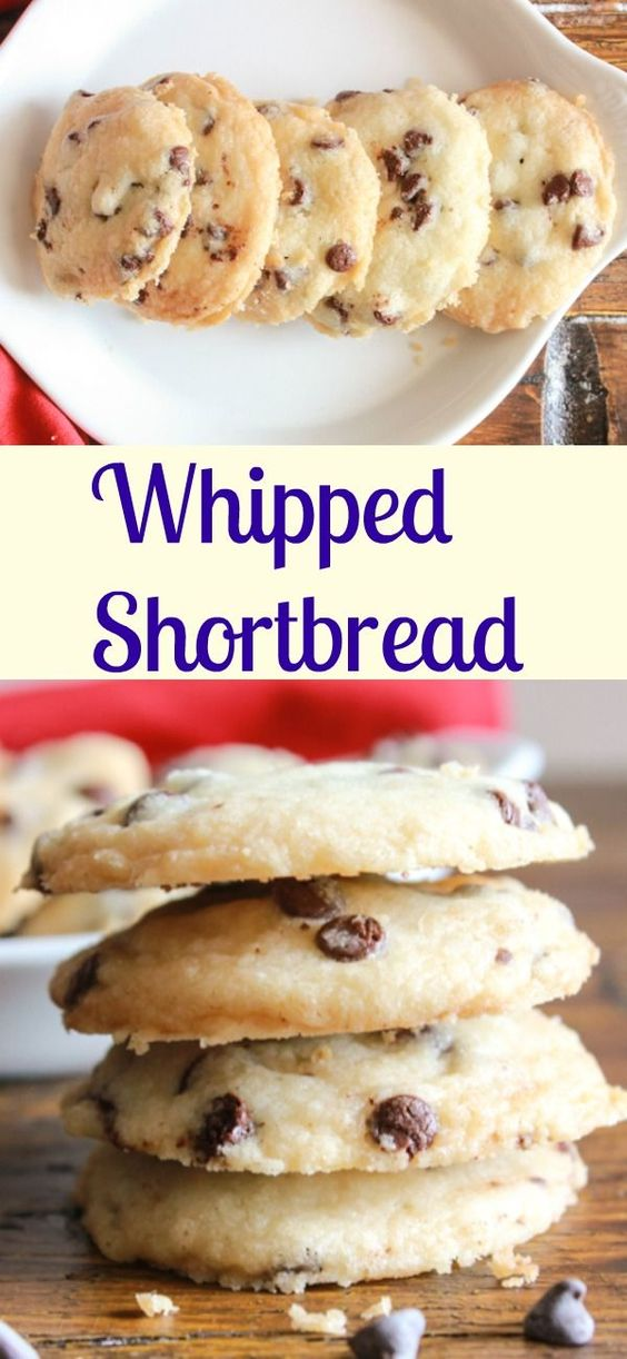 Whipped shortbread, an easy cookie recipe, a yummy melt in your mouth ...
