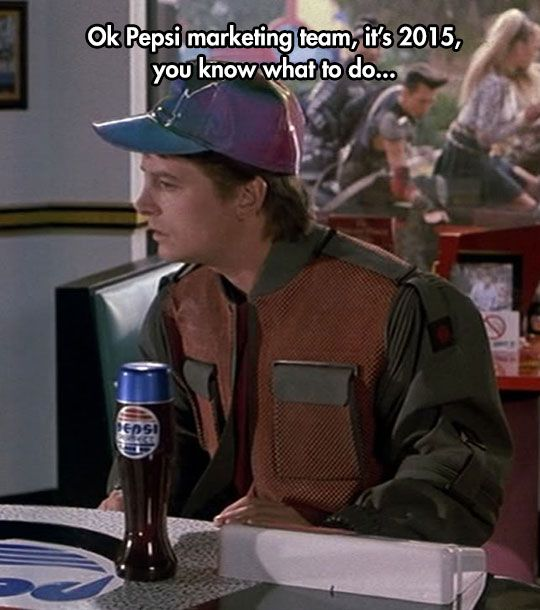back to the future and idioms Michael j fox in back to the future (1985.