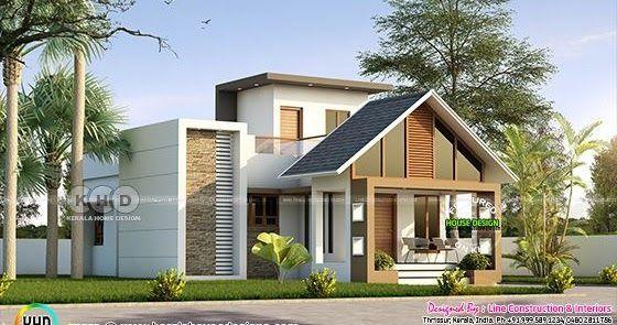 Cute Single Floor 1100 Sq Ft 3 Bedroom Home Kerala House Design Kerala Houses House Front Design Beautiful small house plans in kerala