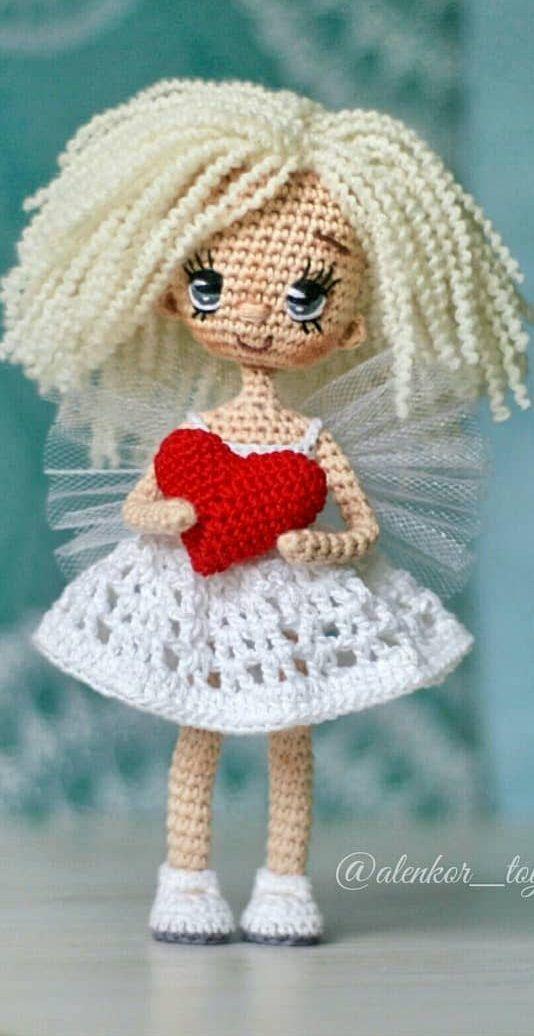 Crochet Doll Amigurumi Wool Pattern, doll, miscellaneous, purple ... | 1036x534