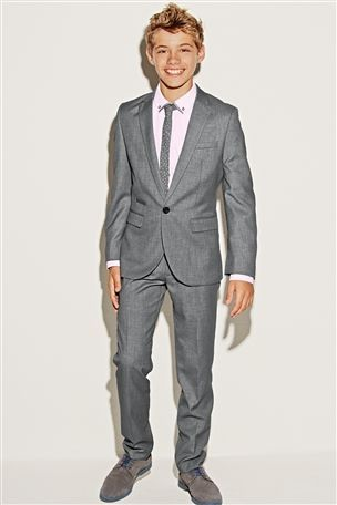 Slim Fit NEXT suit | Boys Fashion | Pinterest | Grey, Shops and