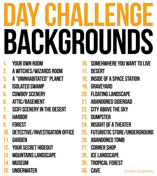 Since I noticed that I RARELY draw backgrounds I decided to do a 30  day background challenge!!!!!