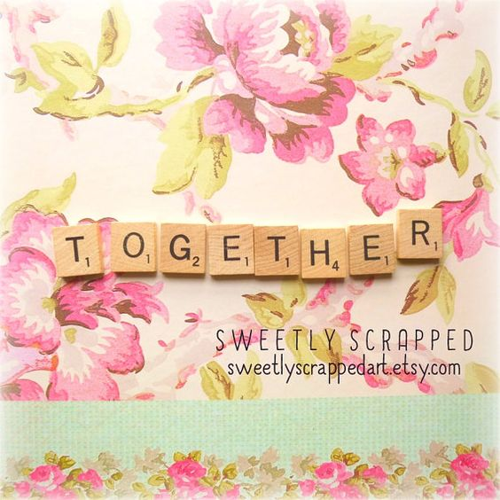 TOGETHER Scrabble Tiles .... Crafts DIY by SweetlyScrappedArt