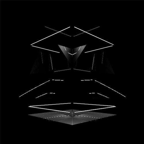 neon box on DELIRIUM LAB / neon black reflection 3d krikrak lines box cube minimalist