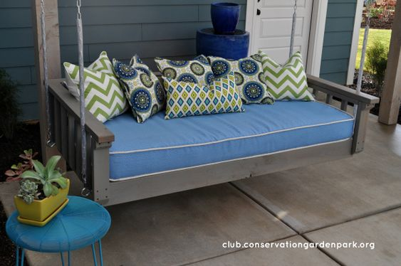 Daybeds how to build and swings on pinterest - How to build a hanging bed ...