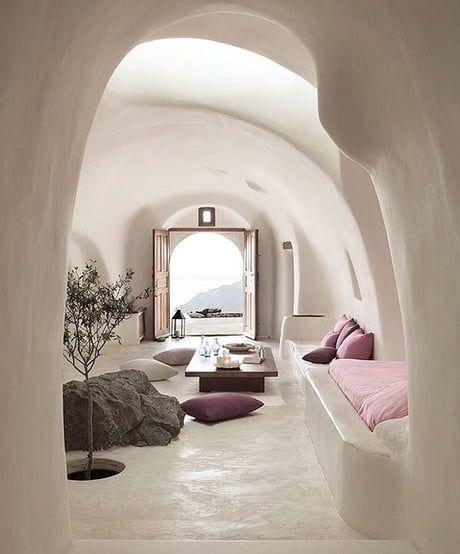 サントリーニ島 ホテル イメージ インテリア