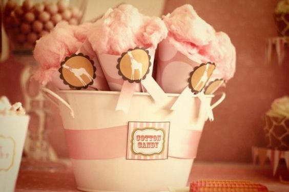 Pink Giraffe Baby Shower Dessert Table, pink giraffe treat cones, pink giraffe baby shower ideas