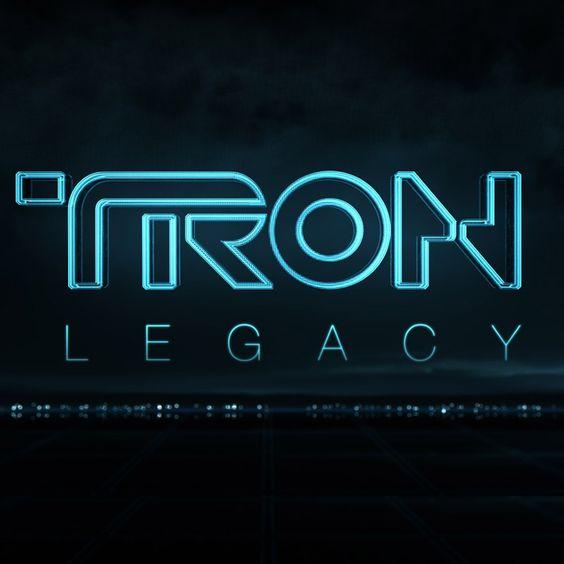 Tron styled logo